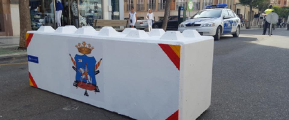 GALLIZO. Construcción. Superbloques. Fiestas Ejea de los Caballeros. Barreras de seguridad urbana contra atentados terroristas